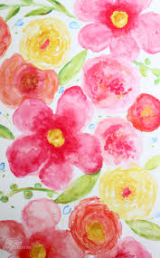 Easy Floral Designs To Paint Beginner Floral Watercolor Painting Fynes Designs