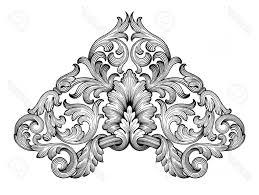 black filigree vector photostock vector vintage baroque frame corner leaf scroll fl ornament engraving border