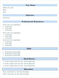Simple Indian Resume Format Download In Ms Word Template