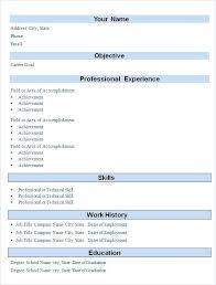 Resume Format Download In Ms Word Simple Indian Resume Format Download In Ms Word Template