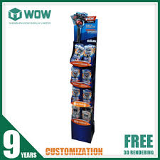 Blister Pack Display Stands New Cardboard Stand Up Blister Pack Display StandShaver Display Shelf