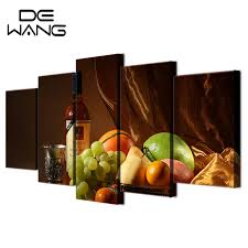 5 panels canvas wall art paintings wine drink fruit classical living room food wall pictures kitchen on food and drink canvas wall art with 5 panels canvas wall art paintings wine drink fruit classical living