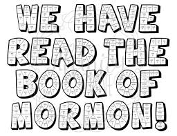 Book Of Mormon Coloring Reading Chart