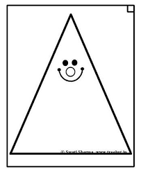 Small Picture Triangle clipart coloring page Pencil and in color triangle
