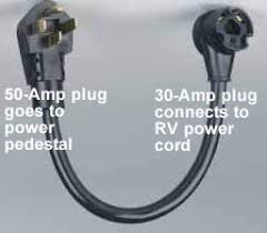 using a to amp rv power adapter rv basics com 50 to 30 amp rv electrical cord adaptor