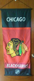 details about nhl chicago blackhawks cloth banner mancave bar hockey sports fan wall decor