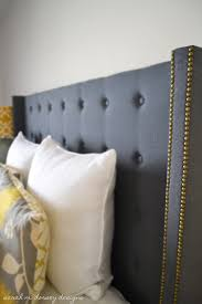 architecture grey upholstered headboard with nailheads brilliant dorel living wingback gray intended for 7 from
