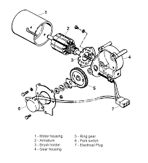 Figure 1 exploded view of the 510 wiper motor