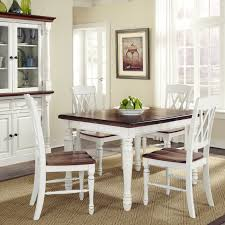 dark wood table with white chairs home styles monarch 5 piece dining table with 4 double