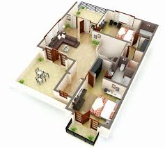 alluring simple house floor plans 3d 2 bedroom view fresh awesome more