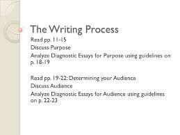 1 the diagnostic essay format