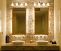 bathroom lighting above mirror. Bathroom Lights Above Mirror With Floral Chrome Shape Designs Double Golden Frame Lighting