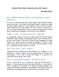 doc graduation speech example sample graduation speech graduation essays essay on the necklace graduation speech example