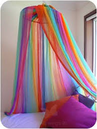Delightful Net Canopy.... I Wonder If I Made One (not This Color. Rainbow Room KidsRainbow  BedroomRainbow ...