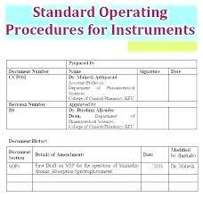 standard operating procedures template word best sop writing format template free standard operating