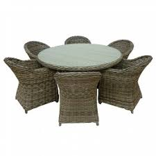 outdoor table chairs set 7 piece