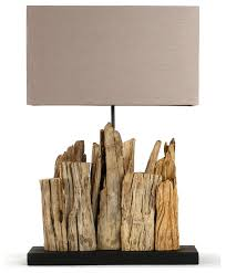 modern rustic lighting. vertico riverine root modern rustic burlap shade table lamp rustictable lamps lighting