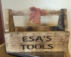wooden tool box etsy. personalized primitive wood tool box wooden etsy 8