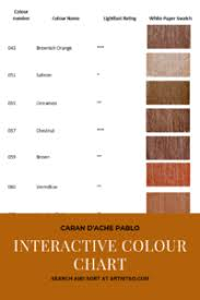 Red Orange Colour Chart Caran Dache Pablo Interactive Colour Chart Artnitso Co