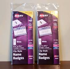 Avery Nametag Upc 077711746008 12 Pack Of Avery Clip Style Name Tag
