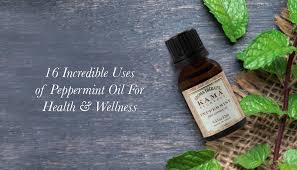 peppermint oil for health wellness