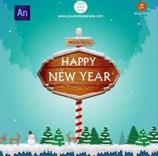 Happy New Year Card By Waqasali201 Codecanyon