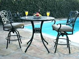 bar height outdoor bistro table sets and chairs with fire pit patio umbrella hole traditional furniture kitchen ast