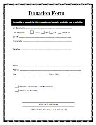 Sample Donation Form Donation Form A Donation Form Is A Written Document That Is