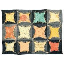 Inventive Denim – Accuquilt DIE for the Denim Circle Rag Quilt! & AQ jean place mats Adamdwight.com