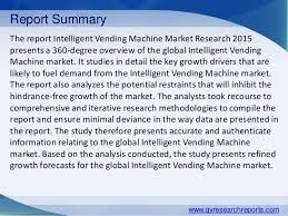 Vending Machine Trends 2015 Mesmerizing Global Intelligent Vending Machine Market 48 Industry Size Share