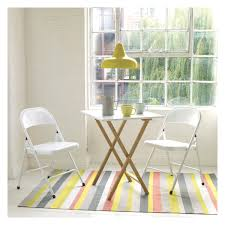 Small Kitchen Table 2 Chairs Drew 2 Seat Bamboo And White Lacquer Folding Dining Table Buy