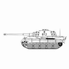 Kleurplaat Panter Mooi Duitse Tank Panzer Vi Konigs Tiger