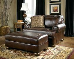 wood and leather chair with ottoman awesome living room awesome chair ottoman set modern with brown