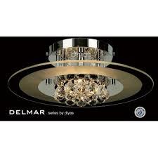 chrome circular flush ceiling light