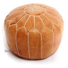 Morrocan Leather Pouf