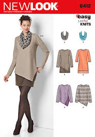 Tunic Sewing Pattern Delectable Misses Easy Knit Dress And Tunics With Scarf New Look Sewing Pattern