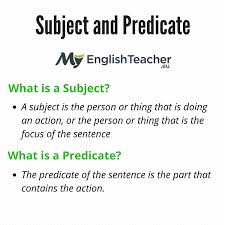 Subject and Predicate. Simple Subject and Predicate, Examples ...