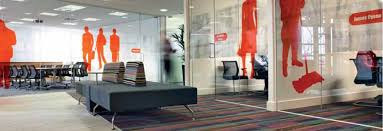 office graphic design. meeting rooms yellow acrylic sliding doors graphic manifestation atrium vizeum london glass manifestations pinterest door office design