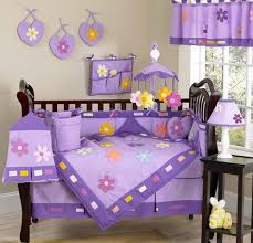 baby sheet sets danielles daisies purple crib bedding sets from jojo only 92 99