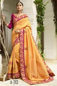 Kalaniketan Designer Sarees Festive Wear Yellow Color Silk Border Work Saree With
