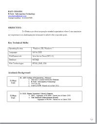 48 New B Tech Fresher Resume Format Doc Pelaburemasperak