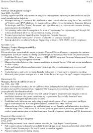 senior project manager resume example examples of project manager resumes