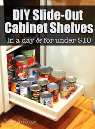 Image Roll Diy Slide Out Cabinet Shelves Shelfgenie Organize Your Pantry With Diy Slideout Cabinet Shelves The Kim