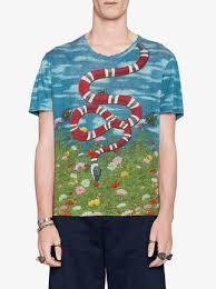 gucci shirt. gucci t-shirt with sky and garden print shirt