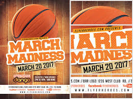 52 Outstanding March Madness Party Flyer | Design Inspiration