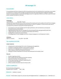 A Hr Manager Cv Template With A Simple But Eye Catching Design Al