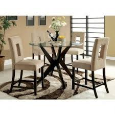 36 inch round glass top dining table set. royce counter-height round tempered-glass dining table 36 inch glass top set .