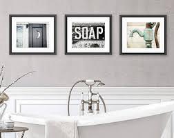 Rustic Bathroom Wall Decor, Bathroom Wall Art Set of 3 Prints or Canvas Set,