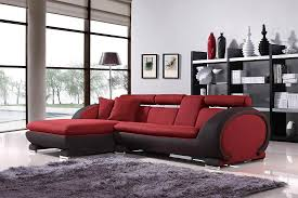 impressive fabric modern sectional sofa in red mixed dark gray colors with lshape design by design furniture outlet r90 outlet
