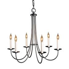 simple chandelier lighting. Simple Sweep 6-Light Candle-Style Chandelier Lighting